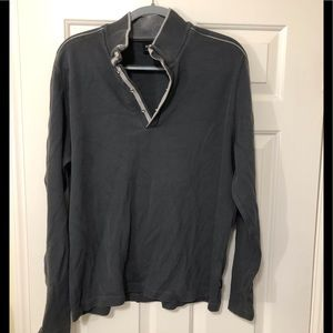 Hugo Boss designer snap neck pullover XL